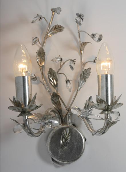 wandlamp zilver