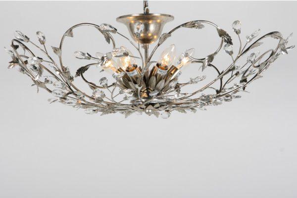 plafonniere zilver 6 lamps