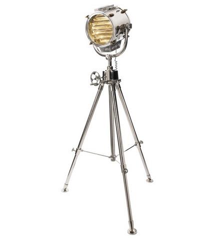Scheeps/spotlamp nickel plated zilver afm: h165.1x87.5 cm-0