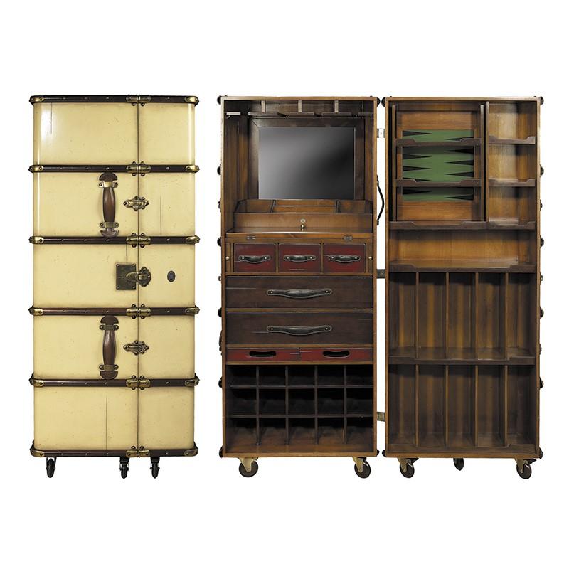 Stateroom Bar kleur ivoor en hout afm: h147.1x62x58.9 cm-0