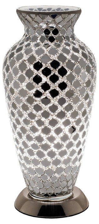 Mozaiek vaaslamp zwart afm. H. 38 cm diameter 18 cm-0