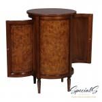 33032-BS-EM Round Central Cabinet-Burl Dimensions: h 82 x w 57 x d 57 cm -7383