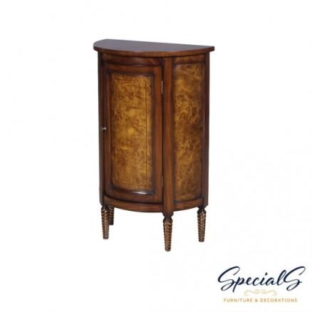 Half Round Side Cabinet Burl Dimensions: h 82 x w 51 x d 28 cm -0