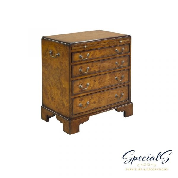 Commode, Bachelor Small, Burl Dimensions: h 70 x w 62 x d 39 cm -0