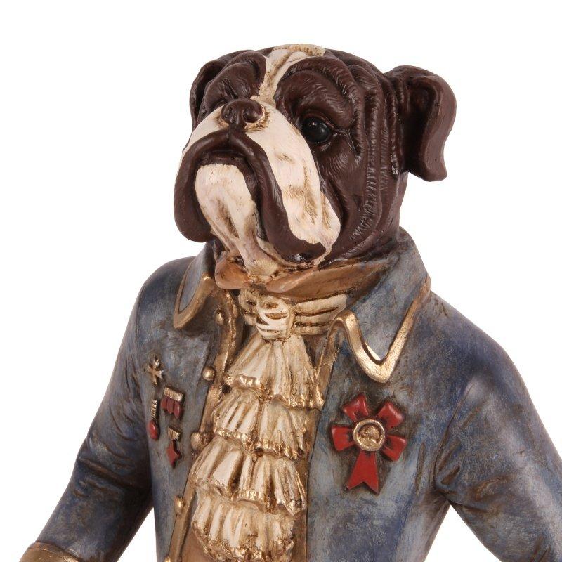 Hond staand blauw afm. 45 cm-7280