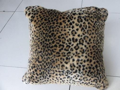 Kussen Imit Bont Leopard afm. 45x45 cm-0