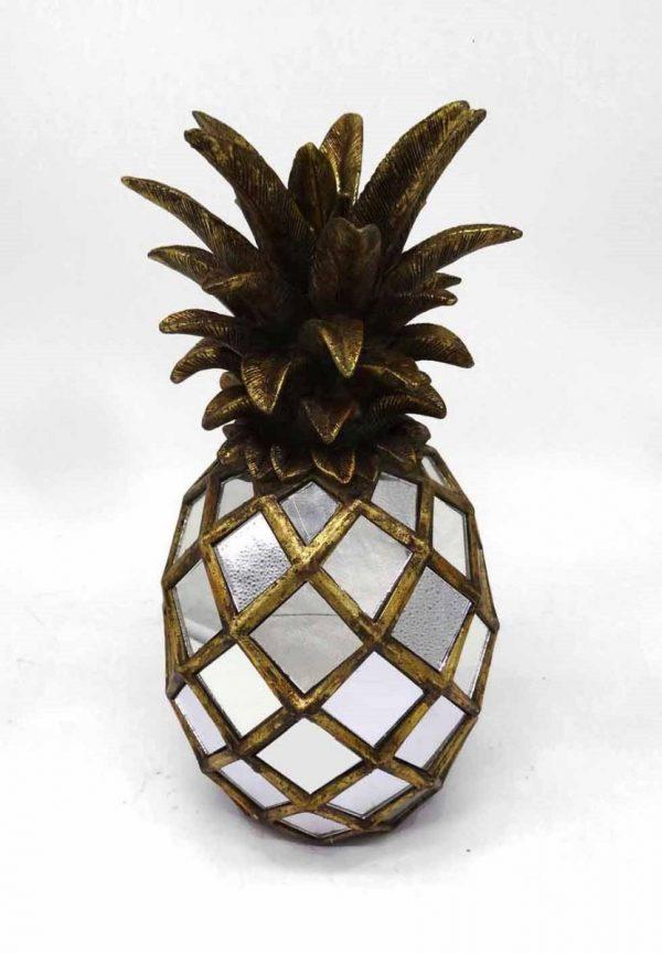 Ananas antiek goud resin+spiegels afm. D18x33h-0