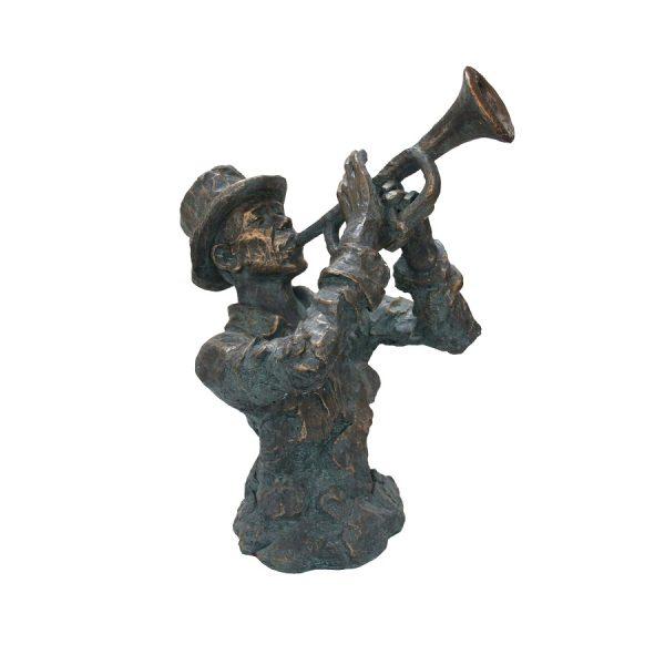 Bronzen trompetistborst afm.56x52,5x74h cm-0