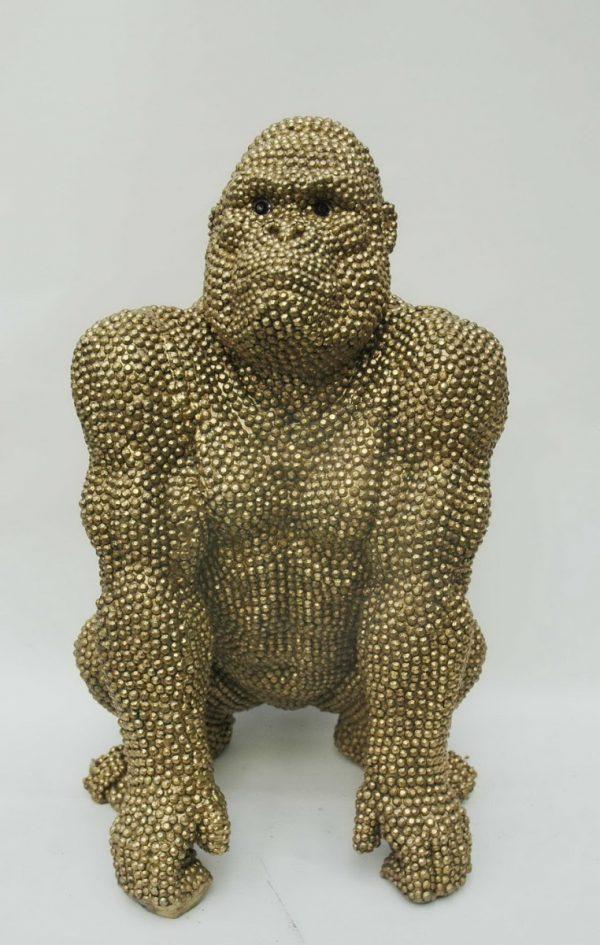 Gorilla antiek goud afm. 30x45h cm-0