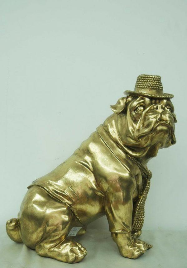 Bulldog antiek goud afm. 45H cm-0