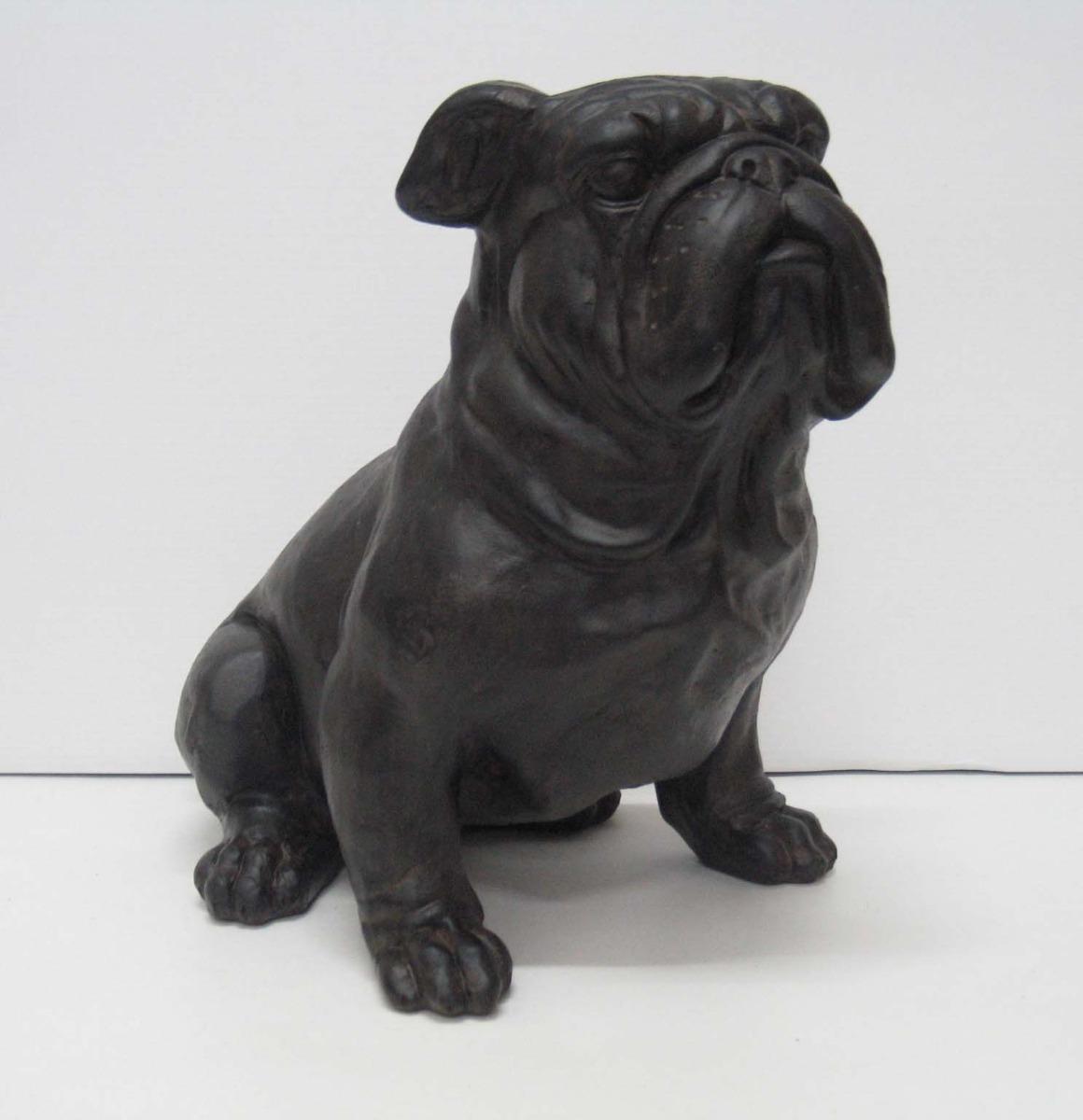 Bulldog grijs Afm. 35h cm-0