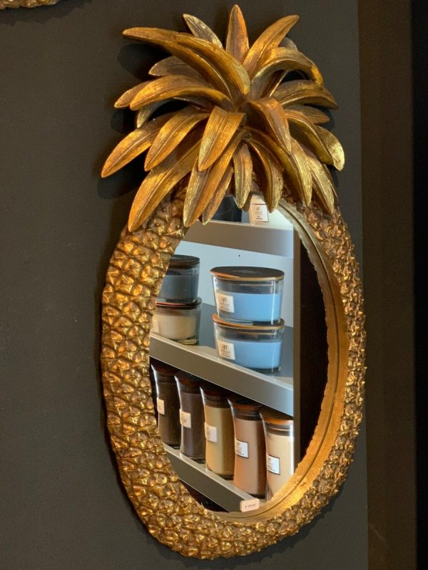 Spiegel Goud Pineapple afm. H65xB37 cm-0
