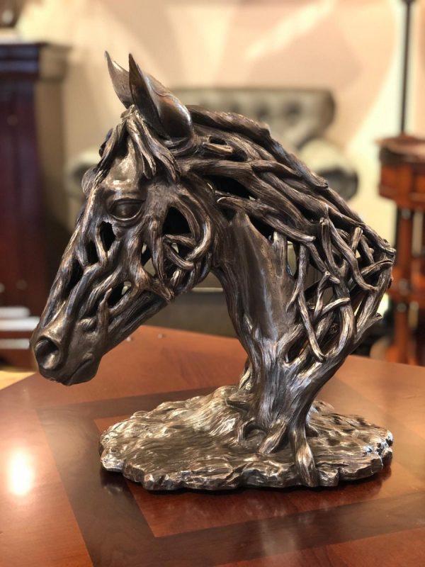 Bronzen paardenhoofd afm. H37xB32-0
