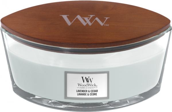 Woodwick Lavender & Cedar Ellipse Candle-0