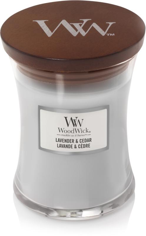 Woodwick Lavender & Cedar Medium Candle-0