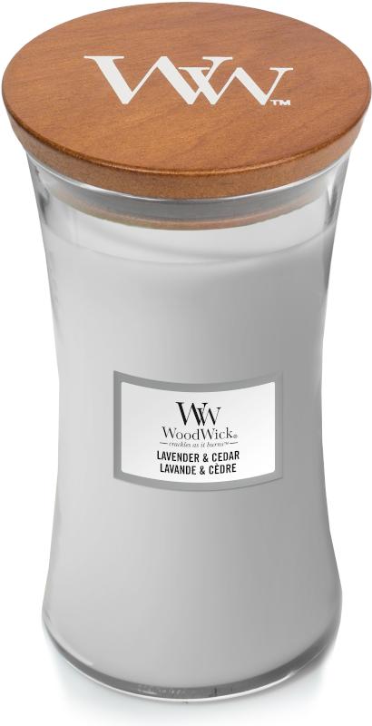 Woodwick Lavender & Cedar Large Candle-0