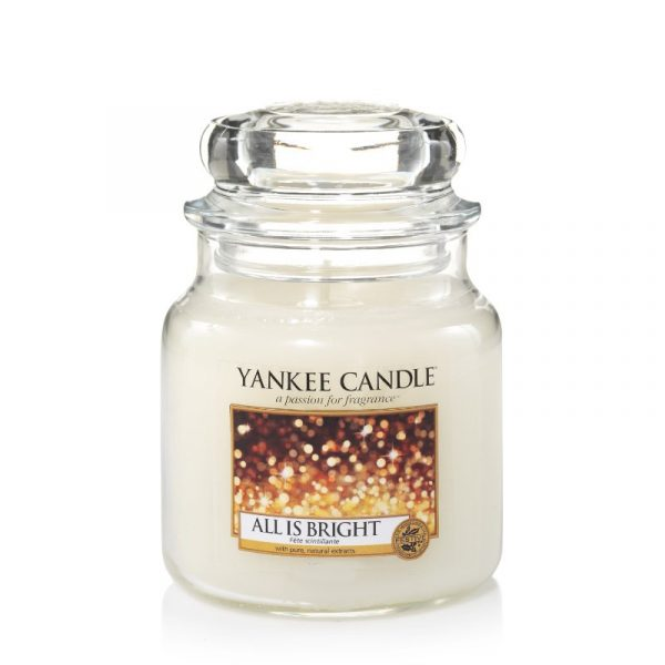 Yankee Candle All is Bright Medium Jar-0